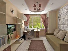953 отметок «Нравится», 4 комментариев — Интерьер и Декор | Идеи (@home_blog) в Instagram: «Дизайн гостиной с рабочим местом✨ #ИнтерьерДекор_Гостиная»