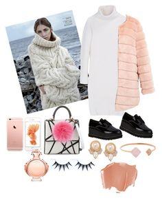 """Long sweater"" by mercantichiara on Polyvore featuring moda, Stuart Weitzman, DKNY, Les Petits Joueurs, Michael Kors, Carolee, Paco Rabanne, women's clothing, women e female"