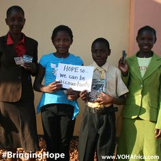 """#BringingHope """"hope so we can be accountants""""  #VOHAfrica #kids #children #missions #africa"""