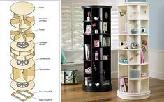 Revolving Bookcase Woodworking Plan