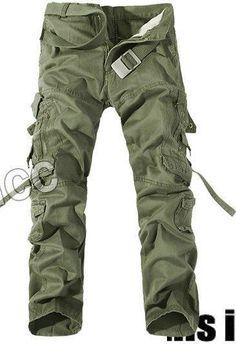 0ec0e3d1 2018 Top Fashion Military Cotton Cargo Pants Men Multi-Pocket Solid Plus  Sizeliligla