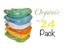 Cloth Diapers 24 Pack One Size fits from newborn to by Momgaroo, $264.00