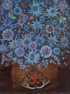 Garden Illustration, Still Life Art, Pretty Birds, Illustrations And Posters, Botanical Art, Pattern Art, Blue Flowers, Painting & Drawing, Amazing Art
