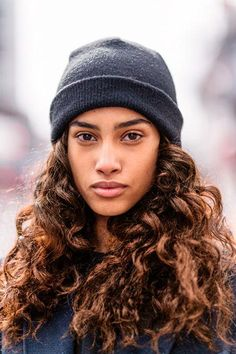 Add a beanie to make curls even more laid-back