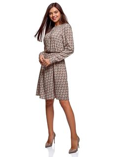 oodji Collection Women's Belted Viscose Dress: Amazon.co.uk: Clothing Viscose Dress, Belts For Women, Dresses For Work, Collection, Clothes, Vintage, Amazon, Style, Fashion