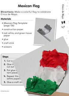 Learn all about #CincodeMayo with this exciting, FREE student activity! Students will learn about the history of the #holiday, fun facts about #Mexico, and make their very own Mexican flags! Grade: K-2