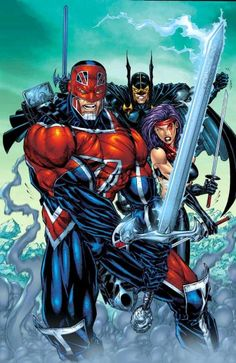 Captain Britain, Psylocke & the Black Knight --->>> love the more obscure marvel characters! Comic Book Characters, Marvel Characters, Comic Character, Comic Books Art, Comic Art, Book Art, Marvel Comics Art, Bd Comics, Marvel Heroes
