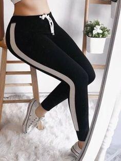 Casual Daily Long Pants Slacks Cotton Leggings, Leggings Are Not Pants, Women's Leggings, Fashion Joggers, Leggings Fashion, Sport Pants, Sports Leggings, Skinny Pants, Fit Women