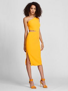 a85e31f22ea One-Shoulder Sheath Dress - Mango - Gabrielle Union Collection