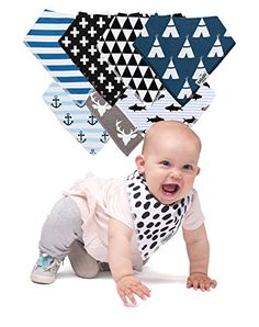 Baby Bibs Bandana - 8 pcs Unisex Set - For Boys and Girls - Organic Cotton Baby Cloths - Best Shower Gift  ✅ UNPARALLELED ABSORPTION: Specially designed for absorption of spit ups, drools and dribbles, our baby bibs have the highest absorption rate in the market. For mess-free and happy babies and parents alike.  ✅ STYLISH SET OF 8: These baby bandanas are not just changed in seconds and avoid baby spit on the dress, but will also instantly make the newest addition to the family the mo...