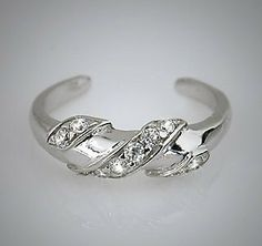 925 Sterling Silver Toe Ring CZ NRB. $14.99
