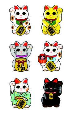 Lucky Cat / Maneki Neko Art Print