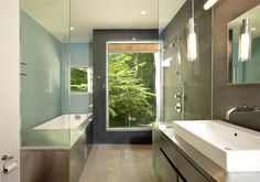 Forest House in Spring - contemporary - bathroom - dc metro - KUBE architecture