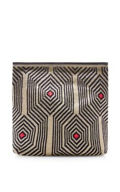Camille Handwoven Geometric Pouch By Sophie Anderson