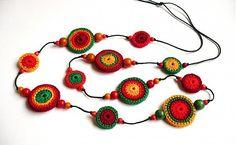 Farebný náhrdelník by katkakolla - SAShE.sk - Handmade Náhrdelníky