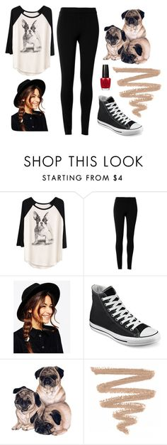 """Dog Days"" by mollyjane123 ❤ liked on Polyvore featuring Max Studio, ASOS, Converse and OPI"