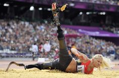 Germany's Vanessa Low competes in the Women's Long Jump F42/44 final athletics event during the London 2012 Paralympic Games at the Olympic Stadium in east London on Sept. 2. (Glyn Kirk/AFP/Getty Images) #