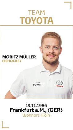 Team Toyota Deutschland: Moritz Müller.  Disziplin/Sportart: Eishockey. #teamtoyota #teamtoyota_de #sport #olympics #paralympics #nichtsistunmöglich #roadtotokio Team Toyota, Moritz, Sport, Olympic Games, Ice Hockey, Germany, Deporte, Sports
