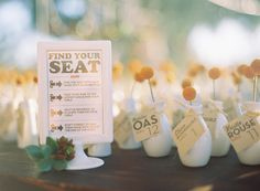 genius idea ~ guests favors to decorate table!