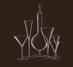 Trinkservice - Ambassador from J. Drinkware, Barware, Cocktail Glass, Luxury Home Decor, Wine Decanter, Drinking, Crystals, Tabletop, Inspiration
