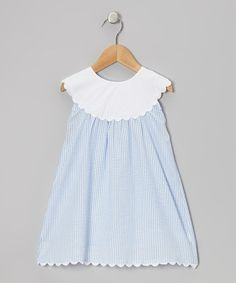 Take a look at this Blue Yoke Dress - Infant, Toddler & Girls by Smockadot Kids on #zulily today!