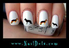 German Shepherd Nail Decals
