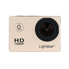 Lightdow LD4000 1080P HD Sports Action Camera Bundle with DSPNT96650 Chip 15Inch LPSTFT LCD 170 Wide Angle Lens and Bonus Battery Gold ** Want additional info? Click on the image.