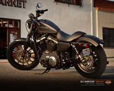 Harley Davidson Sportster Iron 883 bike my dad would like me to get instead of the Yamaha.