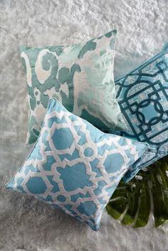 Summer is all about color. Explore a new palette by experimenting with throw pillows in a fresh new hue.