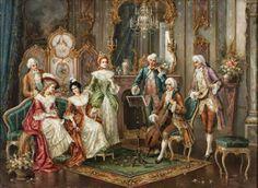 Коллекция картинок: Галантный век (художники Himmapaan, August Stephan...