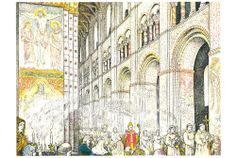 Illustration from Churches and Cathedrals (1957), a vintage Puffin Picture Book available to buy from brindled.co.uk
