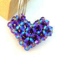 Heart Keyring/ Keychain/ Swarovski Keychain/ Valentine by Ranitit