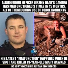 If you think cops are there to protect & serve the I hope you should be the suspect in question at time of camera malfunctions