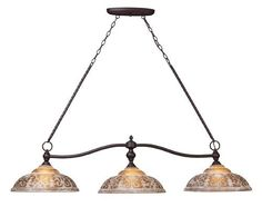 Landmark 66195-3 Norwich 3-Light Billiard Light, 14-Inch, Oiled Bronze by Landmark. $378.00. From the Manufacturer                The Amber restoration glass of Norwich collection features a timeless motif that is warm and inviting. The turned center column and ironwork is complemented by an oiled bronze finish.                                    Product Description                The Amber restoration glass of Norwich collection features a timeless motif that is warm and ...