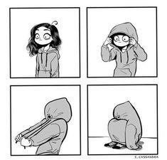 """c-cassandra: """"Current mood. """" Me today. Funny Quotes, Funny Memes, Hilarious, C Cassandra Comics, Cassandra Calin, Tumblr Comics, Sarah's Scribbles, Comic Manga, Online Comics"""