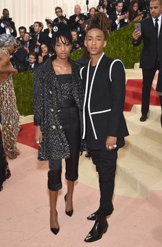 Willow Smith in Chanel e Jaden Smith in Louis Vuitton / Met Gala 2016 Jaden Smith Sarah Snyder, Gq, Willow And Jaden Smith, Jaden Smith Fashion, Fashion Calendar, Future Trends, Costume Institute, Black Power, Celebs