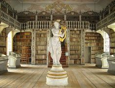 ...a dungeon/basement/library! Lady with golden harp included. BUT! only if I can afford cleaning staff.