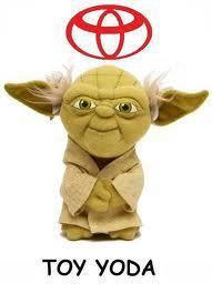 Cars/Star Wars--I will never be able to look at a Toyota ever again without laughing...
