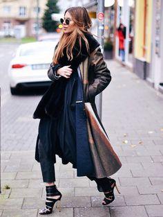 Maja Weyhe of Maja Wyh draped in cozy layers