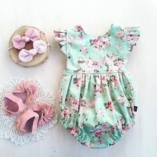 Mother & Kids Cool Summer Hot Selling Baby Girls Adorable Clothes Floral Bodysuit Sleeveless Jumpsuit Fashion Fancy Outfits Cute Sunsuit 0-2t With Traditional Methods
