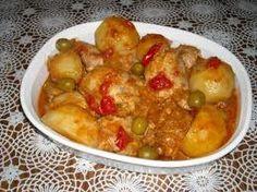 Fricase de pollo - Comida cubana-  So EASY to make.  I do it in the pressure cooker in 15 minutes!