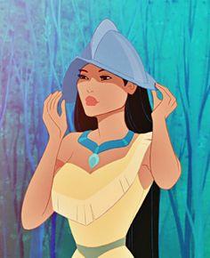 Pocahontas - Ranking the Toughest Disney Princesses - Photos Disney Pixar, Arte Disney, Disney And Dreamworks, Disney Animation, Disney Magic, Disney Art, Disney Movies, Disney Characters, Princess Pocahontas