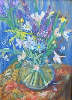 Spring Bulbs oil painting by LI faculty Kate Cardamone. #flowers