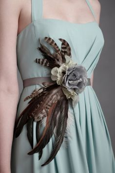I am totally making this belt for a chiffon dress using fall colors and it won't cost me $220!