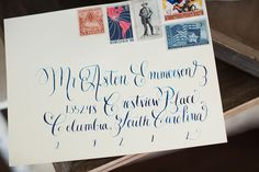 We just had to let you know about this darling calligraphy and custom hand writing company based in Fort Worth - Cleggraphy Designs! #weddinginvitation #calligraphy #handlettering #texaswedding #wedding #invitations