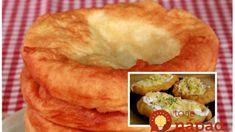 Langoše z téglika – chuť jedna báseň: Úžasne nadýchané a jemné cesto z jogurtu, doma si ich nevieme vynachváliť! Bagel, Mashed Potatoes, Muffin, Pie, Bread, Breakfast, Ethnic Recipes, Desserts, Food
