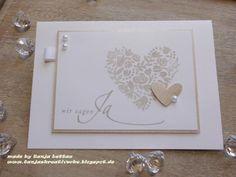 """Einladung+zur+Hochzeit++""""+Herz""""+von+Tanjas+Kreativecke+auf+DaWanda.com"""