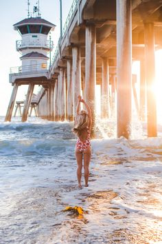Photography by Trent Haaland Look 1 Free People Dress Look 2 JetSet Diaries Dress, Billabong Hat Look 3 Lovers + Friends Top via Revolve, Levi's Skirt, Chloé Bag, Chinese Laundry Slides Look 4 Rip Curl Suit Look 5 Beach Riot Suit