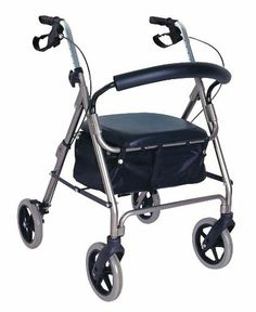 "Apothecary Products, 65075 Rollator with Frame (Adjustable), Smoke by Apothecary Products, Inc.. $149.99. Contoured padded backrest. Easy squeeze and release hand brakes with locking mechanism. 8"" wheels. Convenient storage are under seat for personal items. Easily fold for storage and travel. Rollator with frame (adjustable)"
