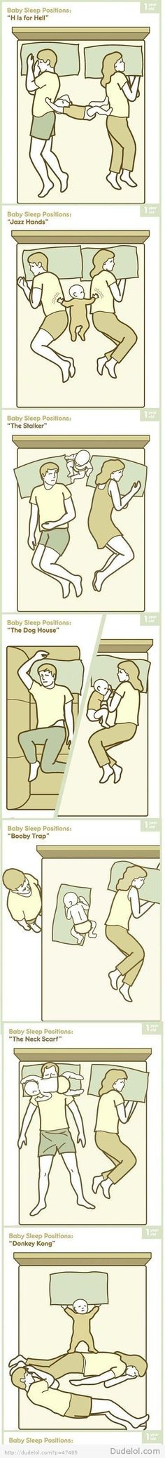 Baby Sleeping Positions  so funny!